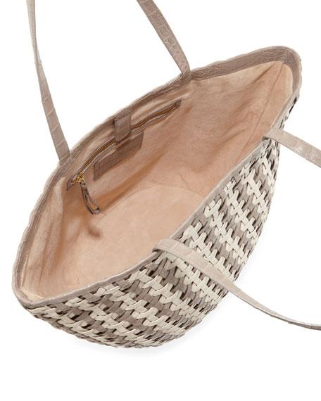 Woven Crocodile Tote Bag