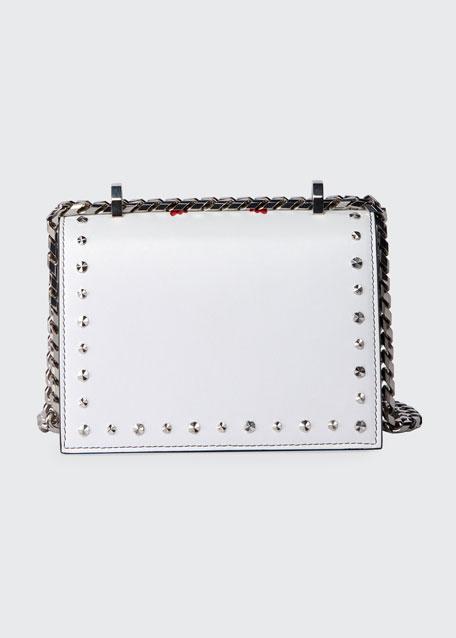 Small Jeweled Satchel Bag with Poppy Art
