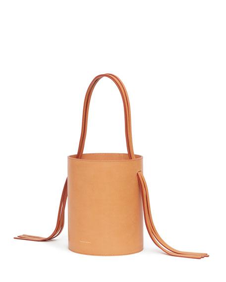 Vegetable-Tanned Fringe Bucket Bag