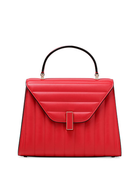 Iside Quilted Leather Top-Handle Bag