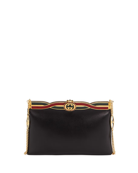 Broadway Evening Palm Lux Leather Clutch Bag