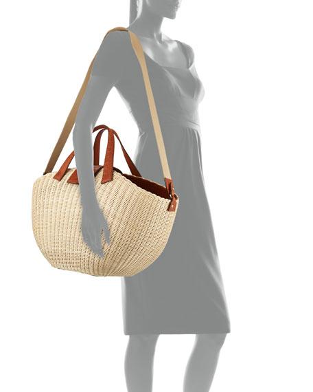 Wicker & Crocodile Large Tote Bag