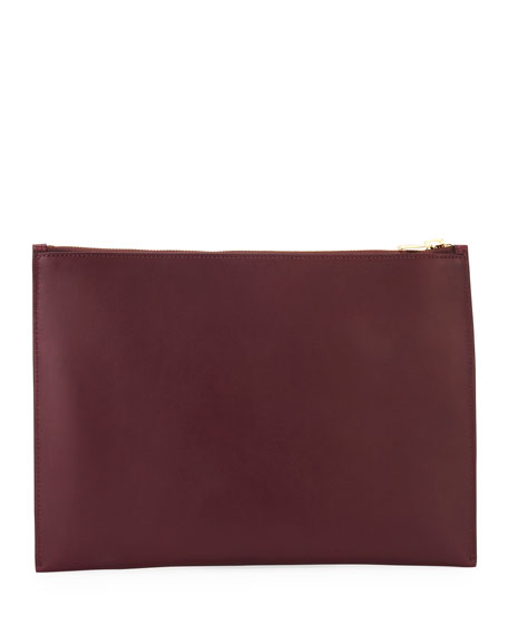 Hollywood Flat Leather Pouch Bag