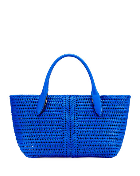 The Neeson Woven Tote Bag, Blue