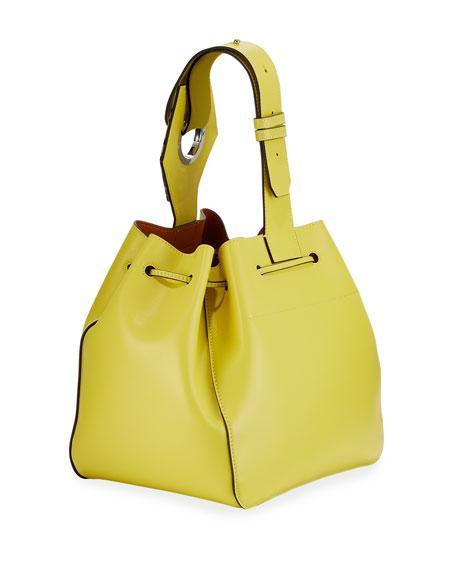 Leather Cinch Bucket Bag