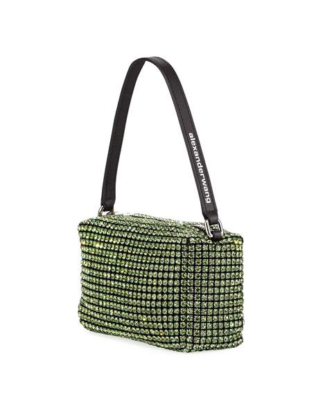 Crystal Mesh Top-Handle Bag