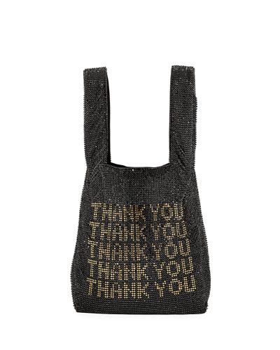 Crystal Mesh Shopper Mini Tote Bag