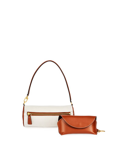 Suzy Canvas and Leather Shoulder Bag