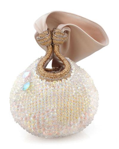Bella Lily Crystal Ball Clutch Bag