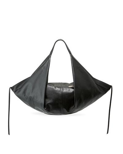 Luna Medium Leather Slouchy Hobo Bag