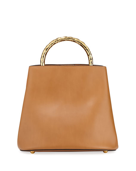 Image 1 of 1: Pannier Two-Tone Leather Bucket Bag