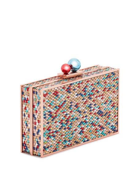Rainbow Clara Box Clutch Bag