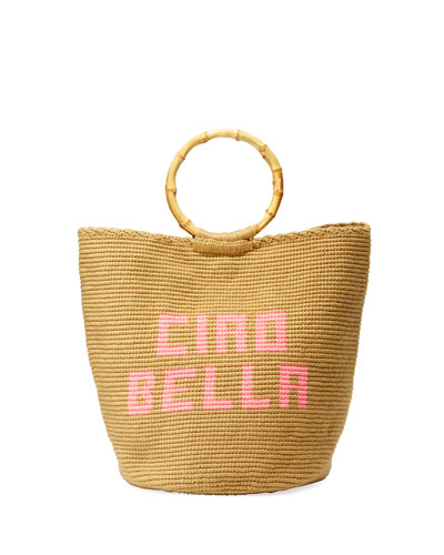 Ciao Bella Woven Ring-Handle Tote Bag