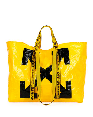 Off-White New Commercial Tote Bag, Yellow/Black