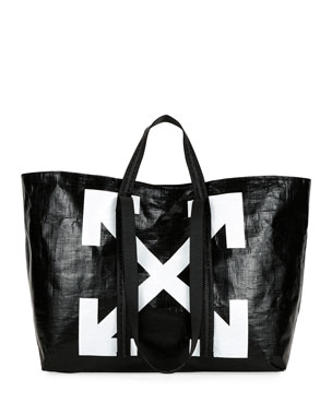 Off-White New Commercial Tote Bag, Black/White