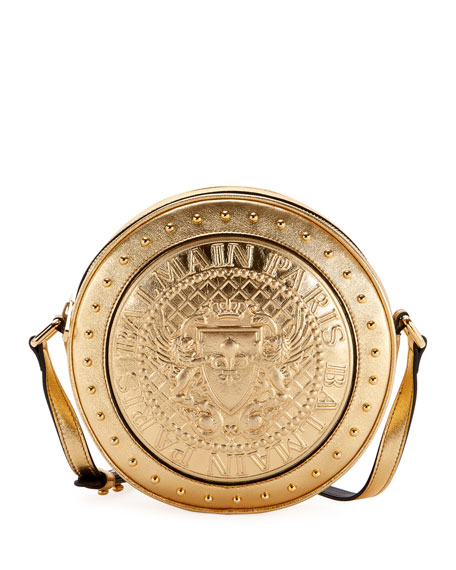 Disco Laminated Crossbody Bag, Gold