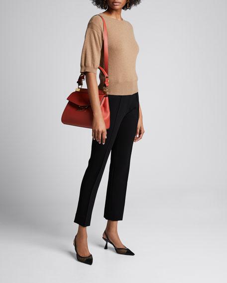 Mystic Small Calfskin Top-Handle Bag