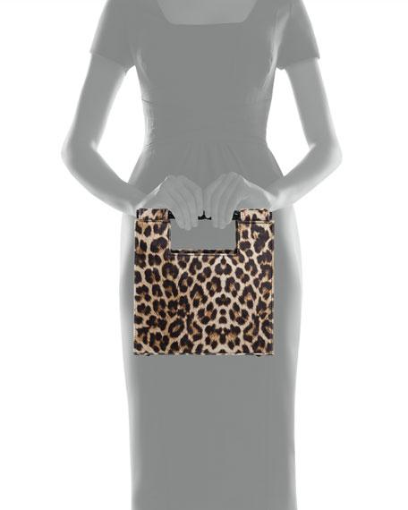Velvet Leopard Unicorn Top Handle Bag