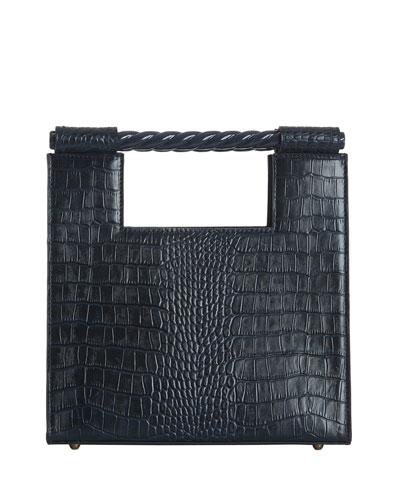 Crocodile-Embossed Unicorn Bag