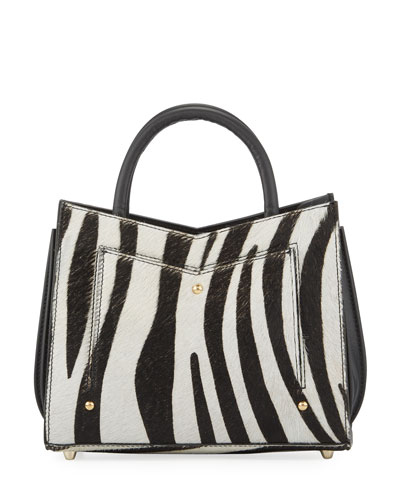 Zebra Toy Plisse Tote Bag