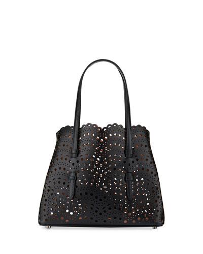 Mina Small Lux Laser-Cut Tote Bag