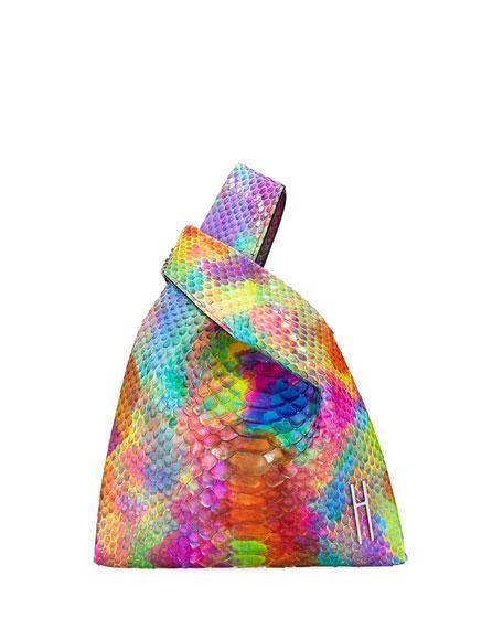 Rainbow Mini Shopper Python Tote Bag