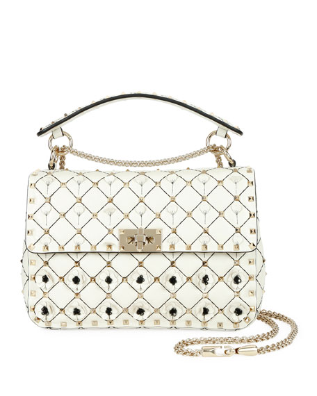 Spike It Medium Flower Shoulder Bag
