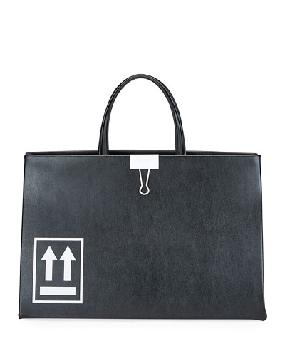 Medium Leather Box Tote Bag