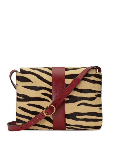 Arli Medium Tiger-Print Shoulder Bag