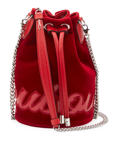 Mary Jane Velvet Bucket Bag