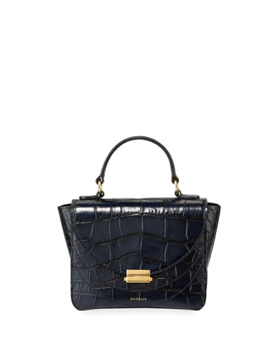 Luna Mini Croco Calf Top Handle Bag