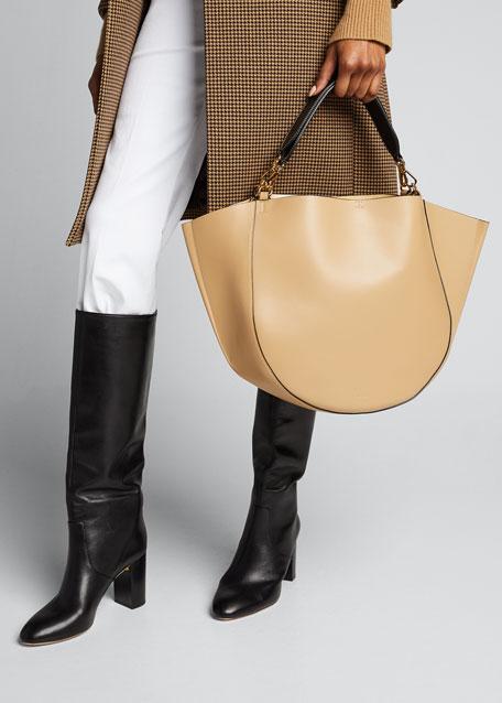 Hortensia Big Calf Top Handle Bag