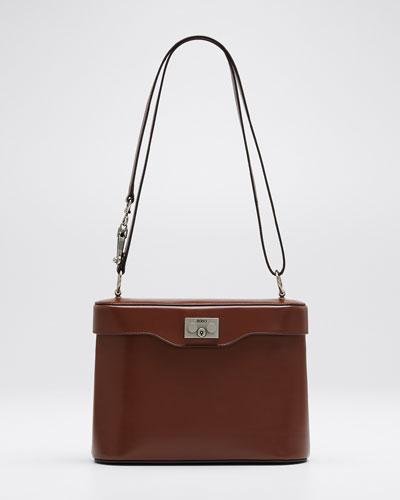 Calf Leather Binocular Shoulder Bag