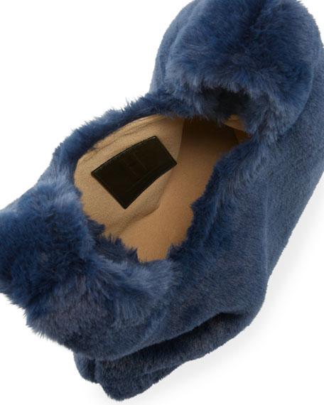 Mini Faux-Fur Shopper Bag