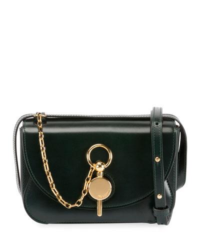 Mini Keys Leather Crossbody Bag