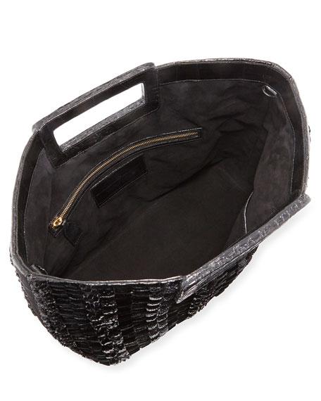 Dani Keyhole Woven Large Tote Bag
