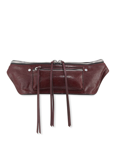 Elliott Crackle Leather Small Fanny Pack/Belt Bag