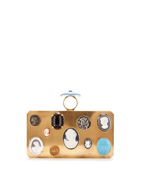 Cameo Minaudiere Clutch Bag