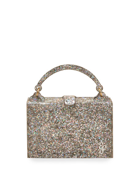Housewife Glittered Top-Handle Bag