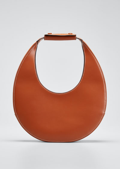 Leather Moon Hobo Bag