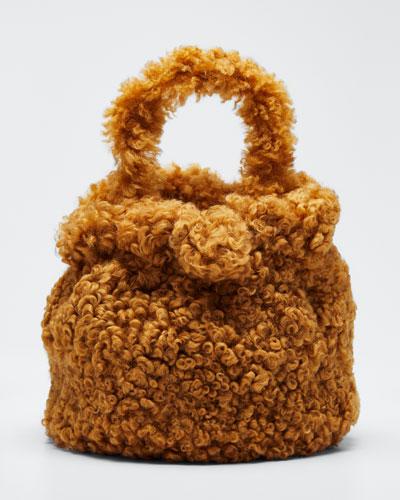 Grace Shearling Top Handle Bag