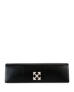 Off-White Jitney Leather Clutch Bag