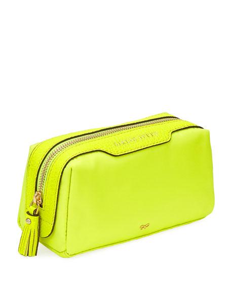 Girlie Stuff Nylon Cosmetics Bag, Neon Yellow