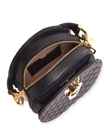 Twist Quilted Lambskin Crossbody Bag