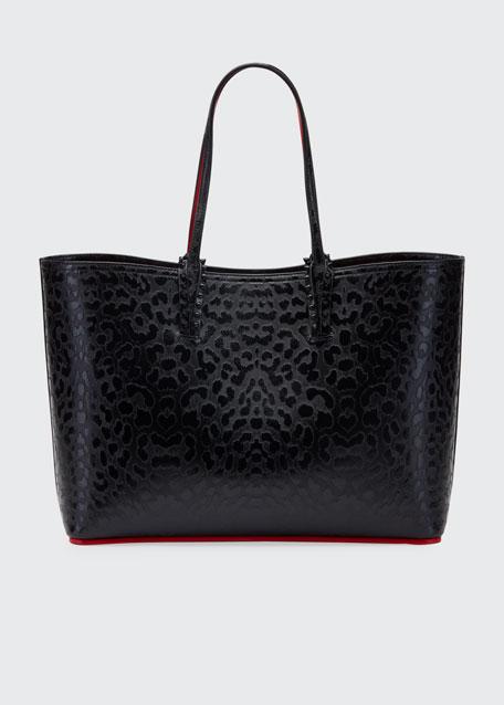 Cabata Leopard-Embossed Tote Bag