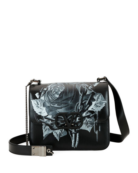 VSLING Rose-Print Shoulder Bag