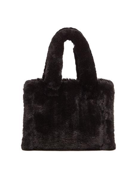 Liz Faux-Fur Tote Bag