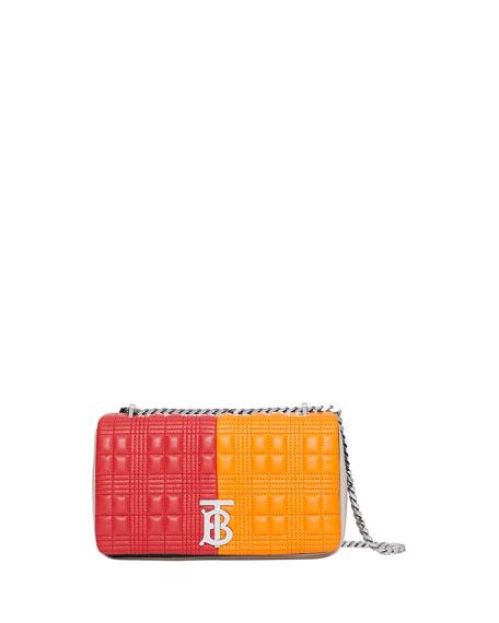 Small TB Colorblock Crossbody Bag, Camel