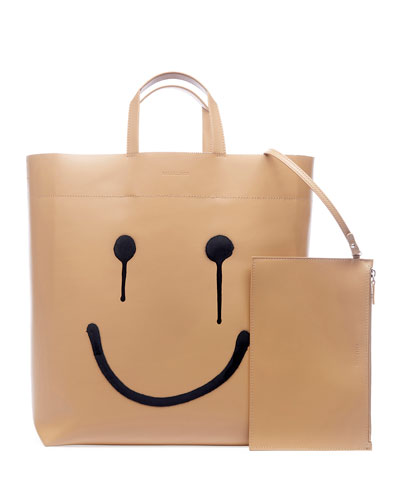 Market Medium Happy Printed Tote Bag