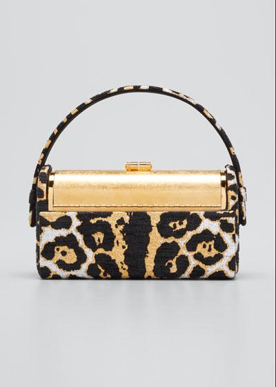 Regine Leopard Chenille Minaudiere